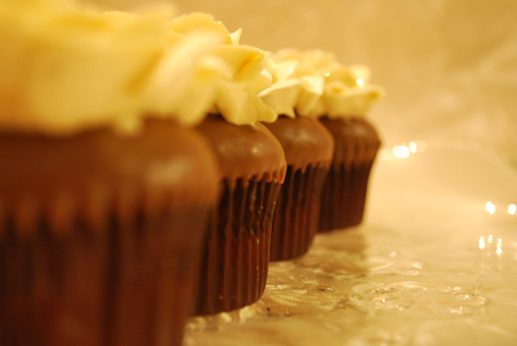 Chocolate Cupcake with Mango frosting